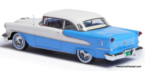 Esval Models 1:43 1955 Oldsmobile Super 88 Holiday Coupe, Blue/White