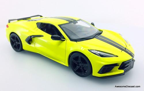 Maisto 1:24 2020 Chevrolet Corvette Coupe Z51, Yellow
