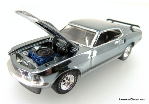 Greenlight 1:64 1969 Ford Mustang Boss 429: John Wick Hollywood Movie (Chrome Edition)