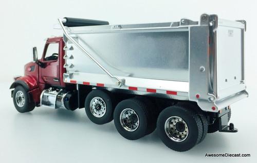 Diecast Masters 1:50 Peterbilt 567 Tandem Truck w/Pusher Axle Dump Truck