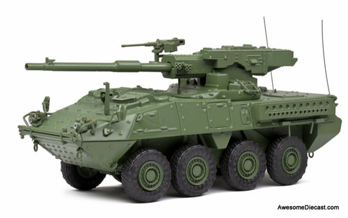 Solido 1:48 2002 General Dynamics Lan Systems M1128 MGS Stryker: Army Green Camouflage