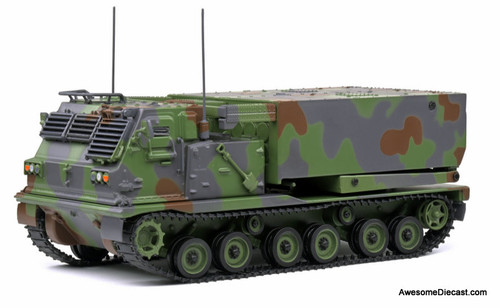 Solido 1:48 1977 Vought Corporation M720 A1 Rocket Launcher:  Army Green Camouflage
