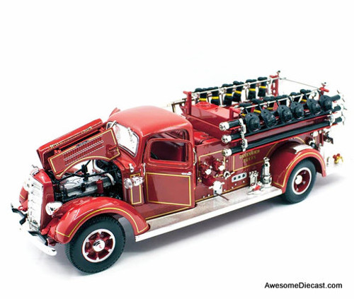 Lucky Diecast 1:24 1938 Mack Type 35 Fire Truck: East Greenwich Fire Department