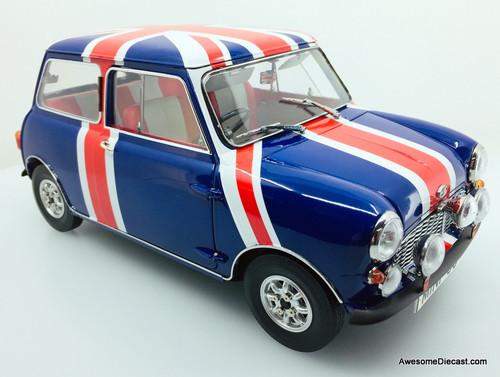 Tiny 1:12 Mini Cooper MK1 60th Anniversary, Blue: Union Jack Edition