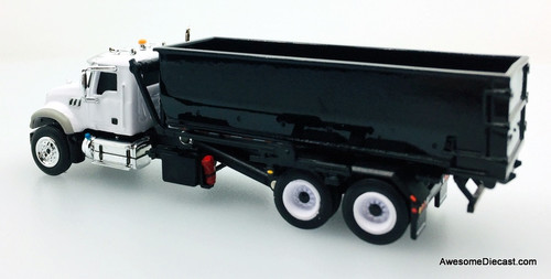 First Gear 1:87 Mack Granite Truck w/Roll-Off Container, White/Black