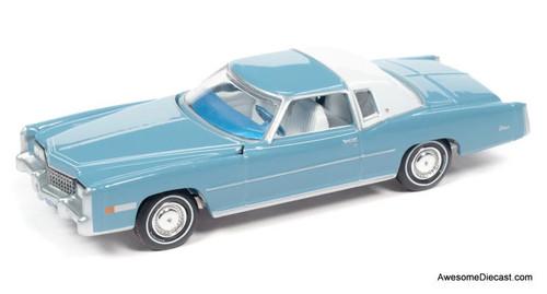 AutoWorld 1:64 1975 Cadillac Eldorado, Jennifer Blue