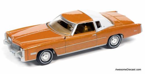 AutoWorld 1:64 1975 Cadillac Eldorado, Mandarin Orange Metallic