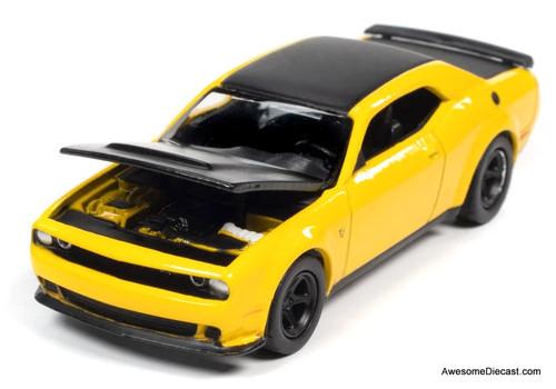 AutoWorld 1:64 2018 Dodge Challenger SRT Demon, Yellow Jacket