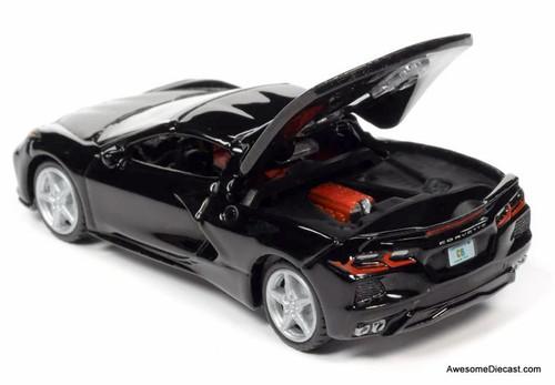 AutoWorld 1:64 2020 Chevrolet Corvette C8, Gloss Black