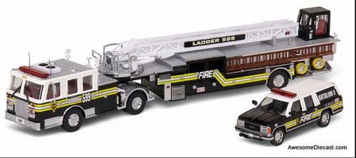 Code 3 1:64 LTI TDA ladder Truck w/Chevrolet Suburban: The Chiefs Edition
