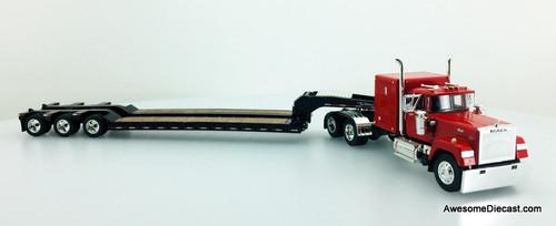 DCP by FG 1:64 Mack Super Liner Sleeper Cab w/Tri Axle Lowboy Trailer