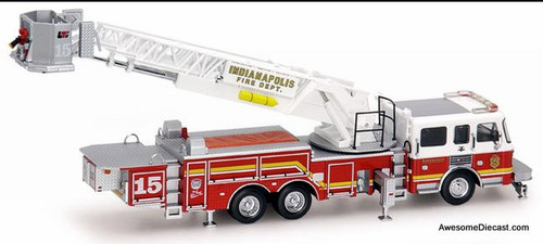 Code 3 1:64 America LaFrance Tower Ladder Fire Truck: Indianapolis Fire Department