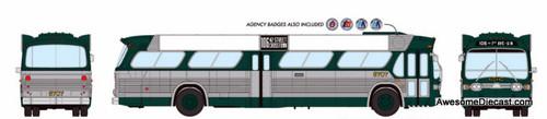 Rapido 1:87 GM TDH 5303 New Look New York MTA w/ Bat Wings: Destination, 106 42 St Crosstown, to 1 Ave-U.N.