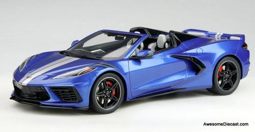 GT Spirit 1:18 2021 Chevrolet Corvette C8 Convertible, Elkhart Blue