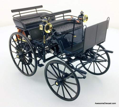 Norev 1:18 1886 Daimler Benz Motorized Carriage, Blue