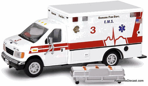 Code 3 1:64 Ford E-350 Ambulance: Chicago Fire Department