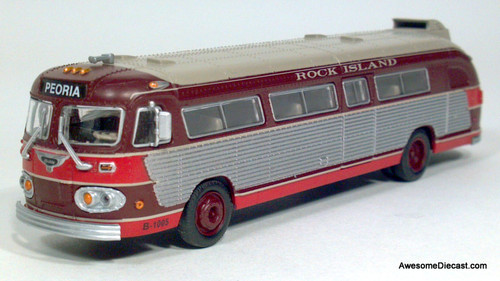 Athearn 1:87 Flixible Visicoach Rock Island Bus Lines: Destination Peoria, Illinois