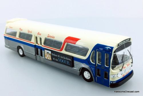 RARE!! Busch 1:87 GM Fishbowl City Bus: New York Bus Service