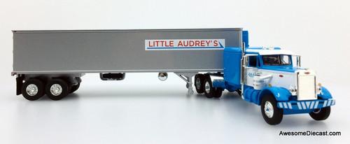 """First Gear 1:64 Peterbilt 351 63""""Sleeper Cab w/40' Refrigerated Trailer: Little Audrey's"""
