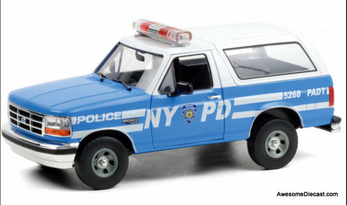 Greenlight 1:18 1992 Ford Bronco: New York Police Department