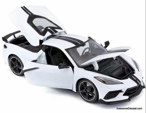 Maisto 1:18 2020 Chevrolet Corvette C8 Coupe, White