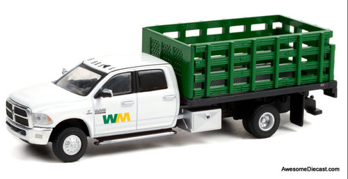 Greenlight 1:64 2018 Dodge Ram 3500 Dually Stake Truck: Waste Management