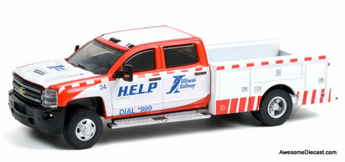 Greenlight 1:64 2018 Chevrolet Silverado 3500 Dually Service Bed: Illinois Tollway