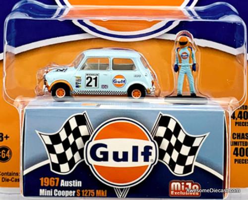 Greenlight 1:64 1967 Austin Mini Cooper 1275S w/Race Driver: Gulf Oil