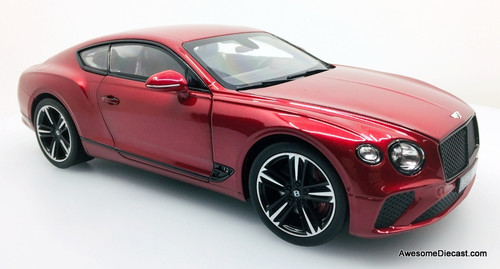 Norev 1:18 2018 Bentley Continental GT, Candy Red Metallic
