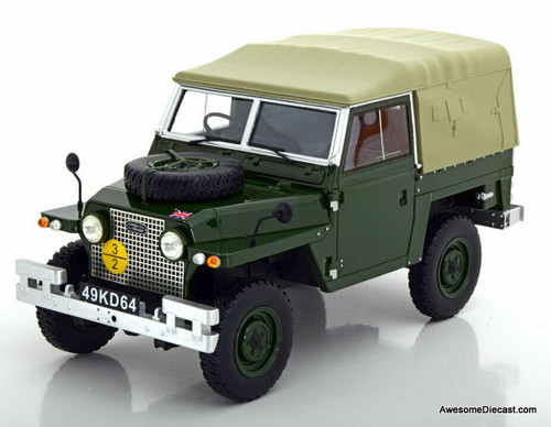 Only One!! BoS 1:18 1968 Land Rover Lightweight Series IIA Soft Top RHD, Dark Green