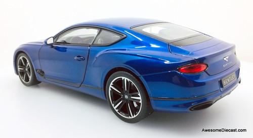Norev 1:18 2018 Bentley Continental GT, Sequin Blue