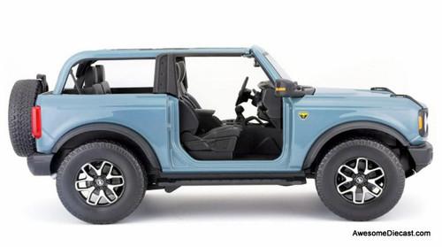 Maisto 1:18 2021 Ford Bronco Badlands, Blue