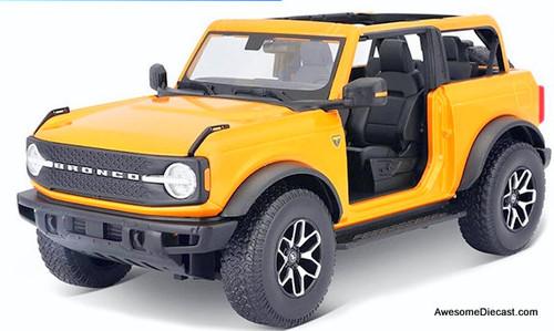 Maisto 1:18 2021 Ford Bronco Badlands, Metallic Orange