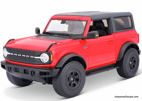 Maisto 1:18 2021 Ford Bronco Wildtrak, Red