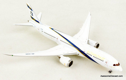 Gemini Jets 1:400 Boeing 787-9: EL AL Airlines, Jerusalem Of Gold Livery