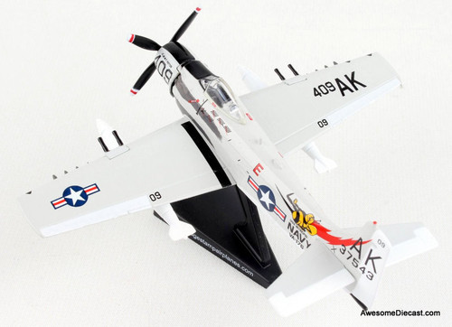 Postage Stamp 1:110 McDonnell Douglas A-1 Skyraider: Papoose Flight, United States Navy