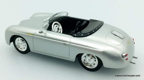 Greenlight 1:43 1958 Porsche 356 Speedster Super Convertible, Metallic Silver