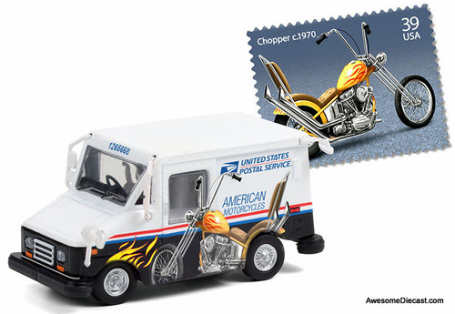 Greenlight 1:64 USPS Postal Van: American Motorcycles Collectible Postage  Stamps Edition