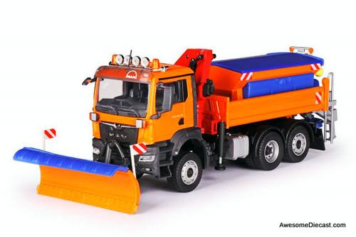 Conrad 1:50 MAN TGS NN Winter Service Truck 3-axle w/Gritting Structure & Snow Shield & Crane