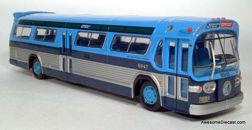 Only One!! Corgi 1:50 GM New Look Bus- Fishbowl: New York Transit Authority