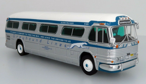 Iconic Replicas 1:87 GM PD4104 Motorcoach Greyhound Lines:  60th Anniversary of the Freedom Riders