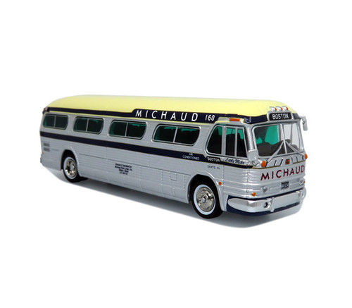 Iconic Replicas 1:87 GM PD4104 Motorcoach: Michaud Bus Lines