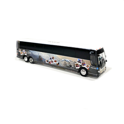 Iconic Replicas 1:87 Prevost X3-45 Greyhound Lines: Special Edition Livery - Love Your Journey
