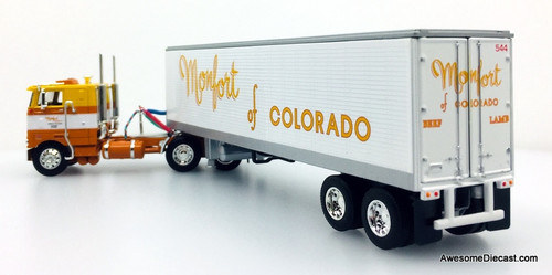 Only One!! DCP by FG 1:64 Peterbilt 352 COE w/40' Vintage Refrigerated Trailer: Monfort Of Colorado