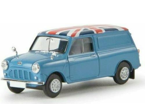 Brekina 1:87 Austin Mini Panel Van: Union Jack Version