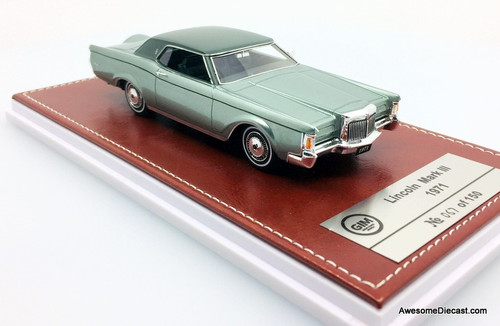 Only One!! GLM 1:43 1971 Lincoln MK111, Metallic Green
