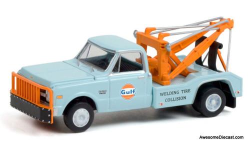 Greenlight 1:64 1969 Chevrolet C-30 Dually Wrecker: Gulf Oil