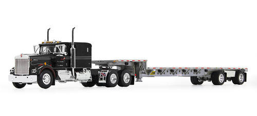 """DCP 1:64 Kenworth W900A w/60"""" Flat Top Sleeper and Transcraft Stepdeck Trailer: IMT Transport"""