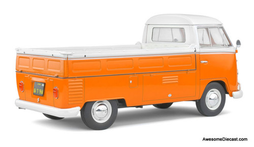 Solido 1:18 1950 Volkswagen T1 Pick-Up, Orange/White