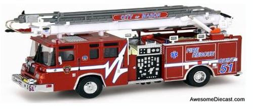 RARE!! Code 3 1:64 Pierce Quantum Ladder 51: Mason Fire Department, Ohio